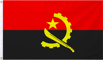 Angola International Flag