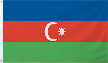 Azerbaijan International Flag