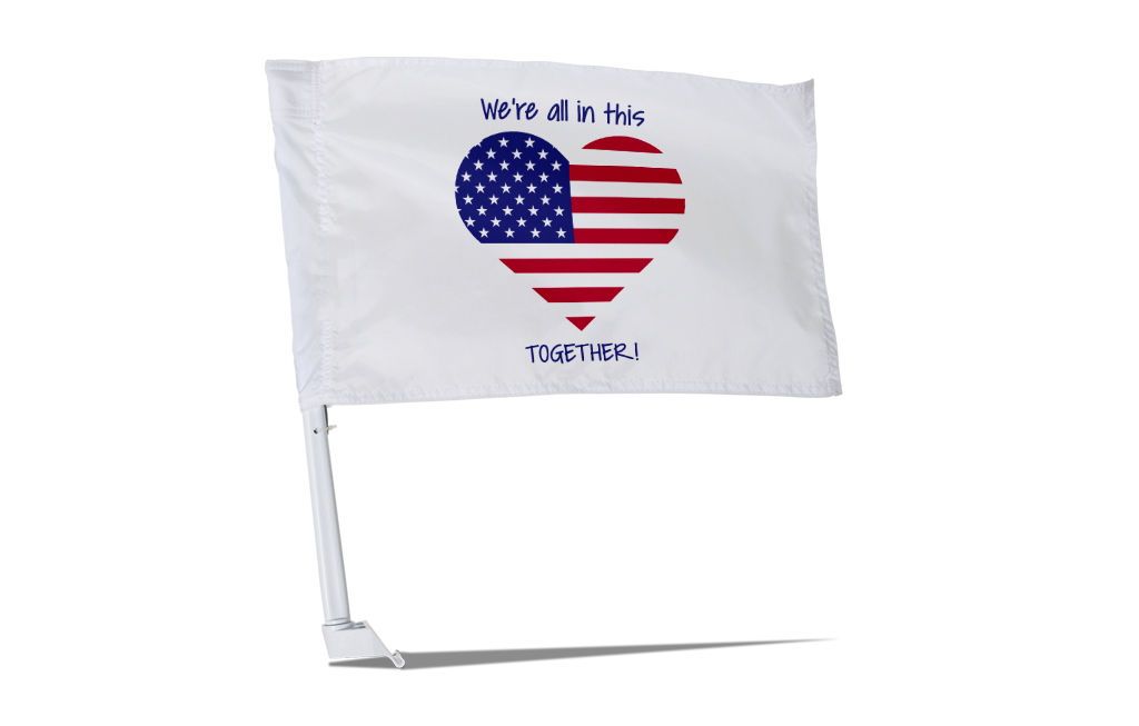 We're All In This Together Car Flag - BestFlag.com