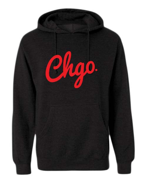 CHGO Black and Red Hoodie