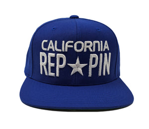 California Reppin Royal and White Snapback