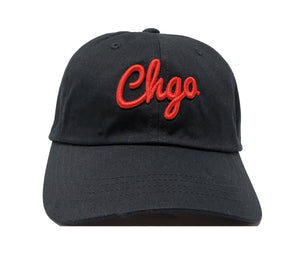 CHGO Black and Red Dad Cap