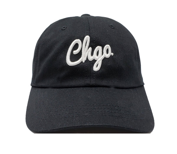 CHGO Black and White Dad Cap