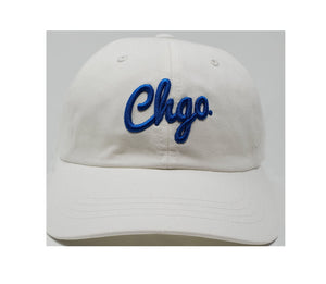 CHGO White and Royal Dad Cap