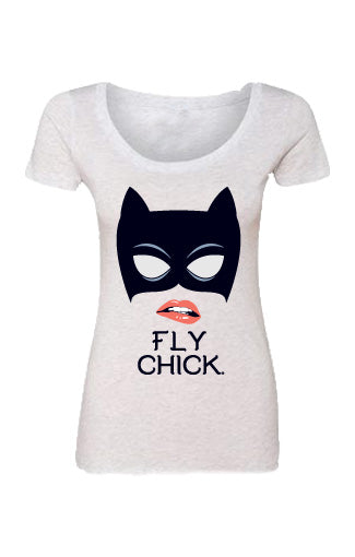 Cat Woman Scoop Neck T-shirt