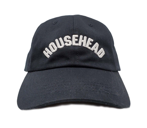 House Head Black and White Dad Cap
