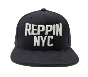 Reppin NYC Black and White Snapback