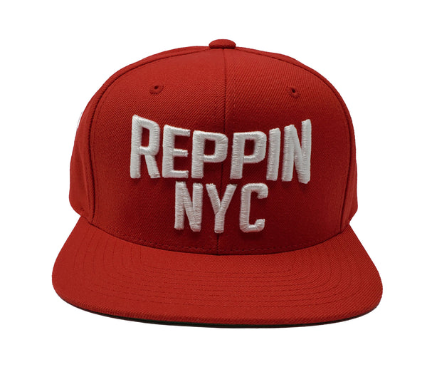 Reppin NYC Red and White Snapback