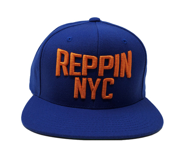 Reppin NYC Royal and Orange Snapback