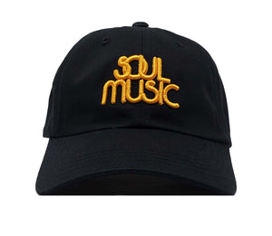 Soul Music Black and Gold Dad Cap