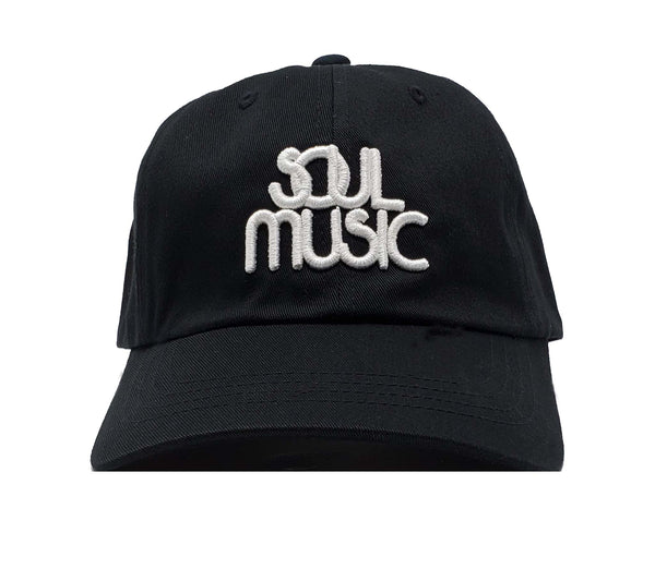 Soul Music Black and White Dad Cap