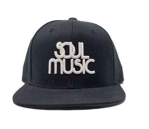 Soul Music Black and White Snapback