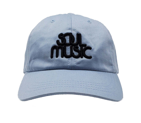 Soul Music Light Blue and Black Dad Cap