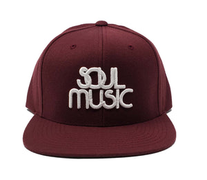 Soul Music Maroon and White Snapback