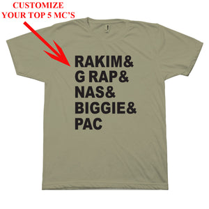 Customize your Top 10 T-Shirt