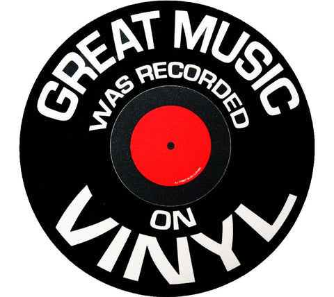Great Music was Recorded on Vinyl Mousepad