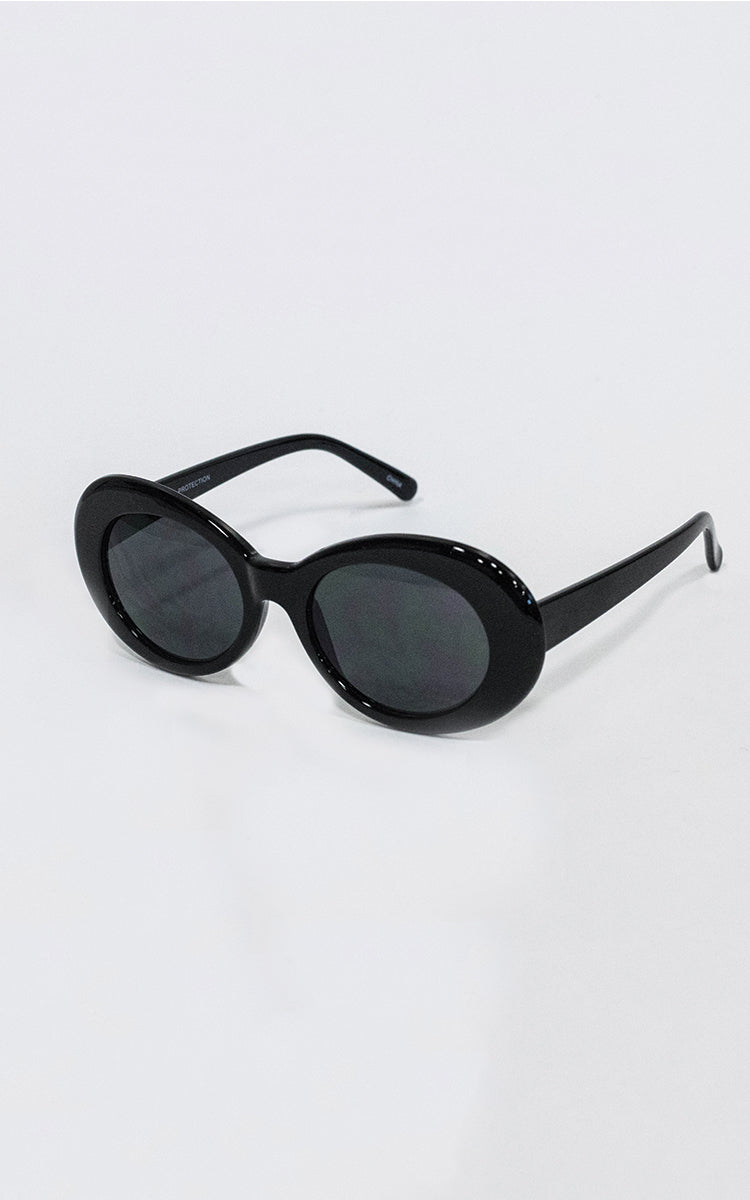 Black Dolly Oval Sunglasses