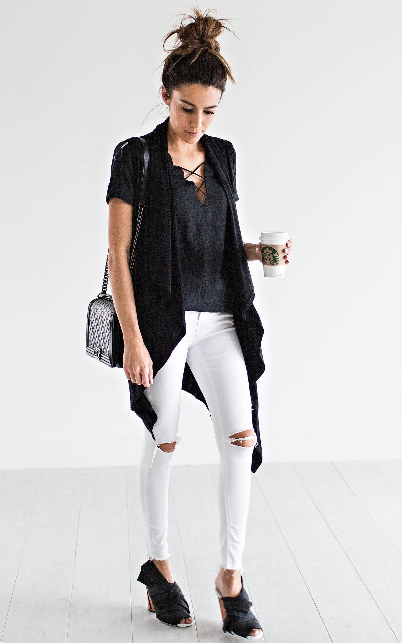 Black Waterfall Vest