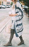 Blue Long Stripe Cardigan
