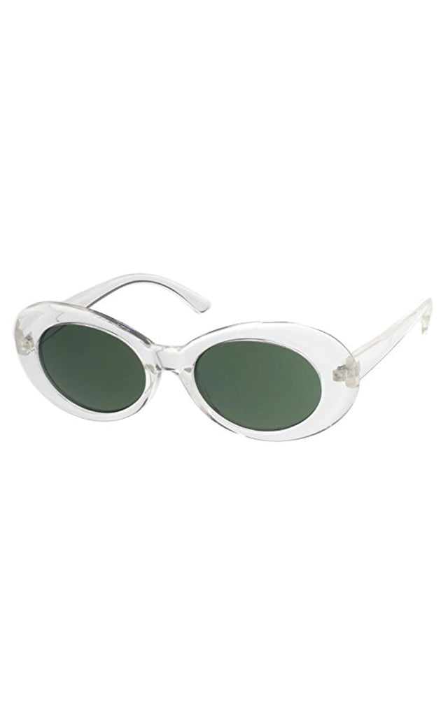 Clear Dolly Oval Sunglasses