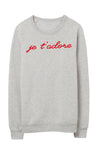 Je t'adore Embroidered Sweatshirt