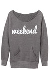 Weekend Eco Grey Sweatshirt
