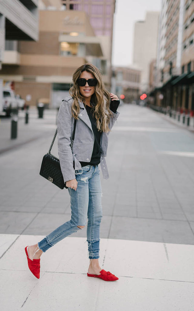 Light Grey Suede Jacket