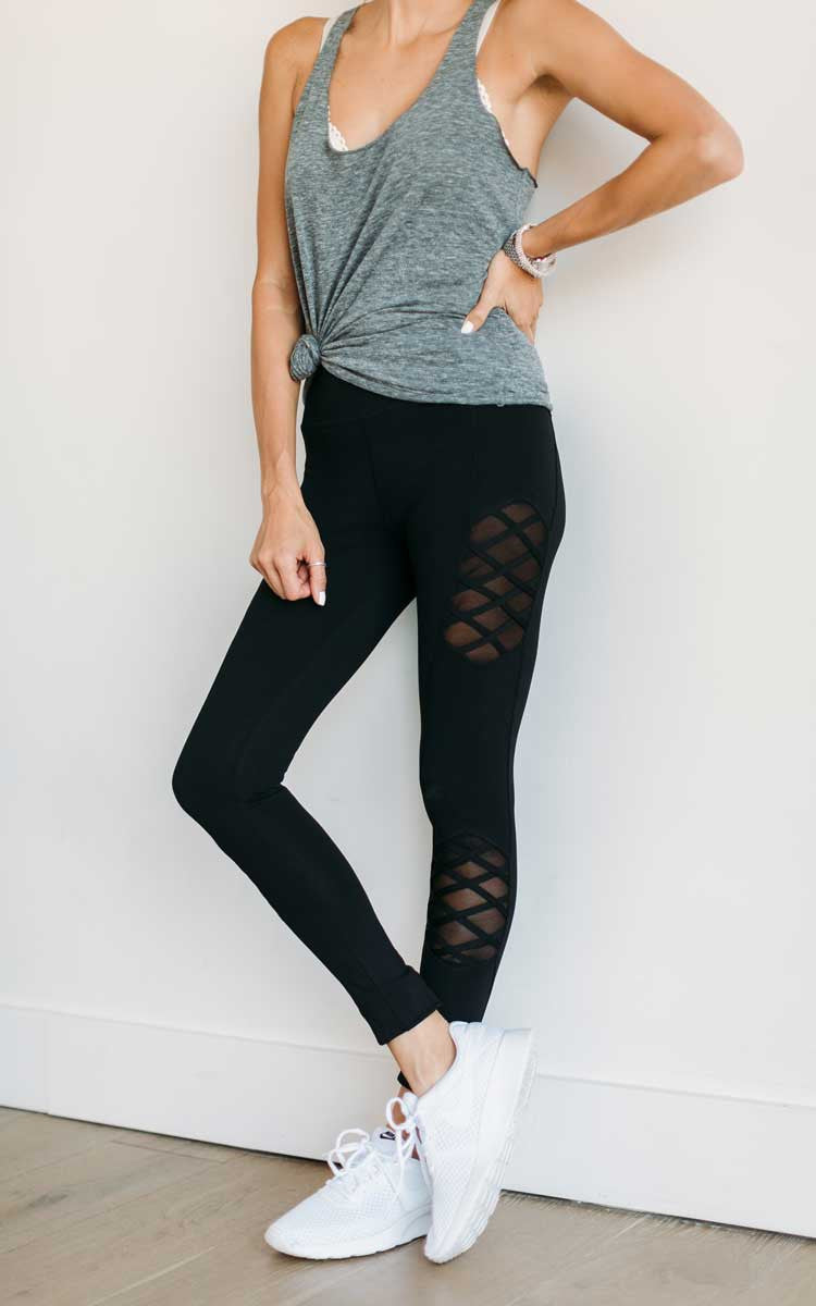 Black Don't Mesh With Me Leggings
