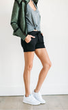 Black Drawstring Shorts