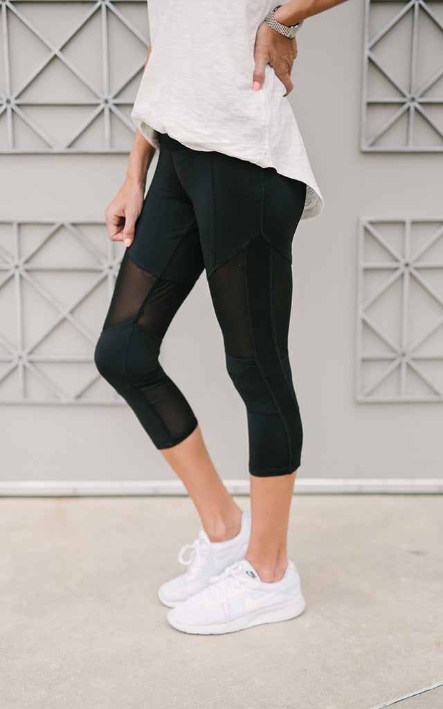 Cropped Mesh Leggings