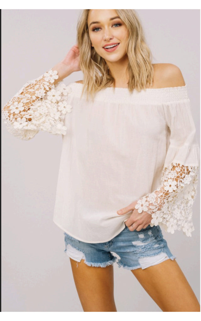 The Amy Lace Sleeve Top