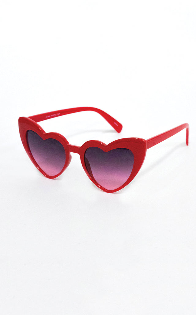 "Red ""Love Me"" Sunglasses"