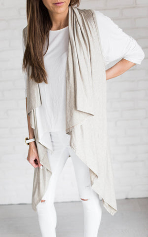 Oatmeal Waterfall Vest