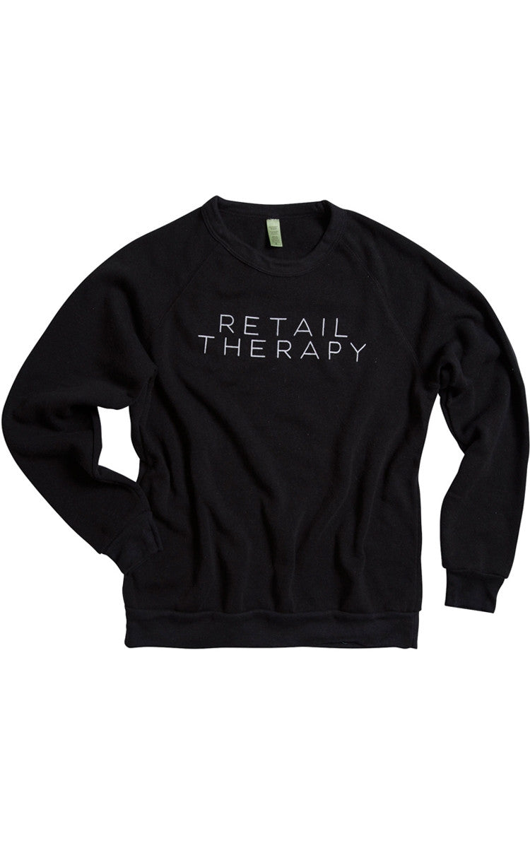 Retail Therapy Black Sweatshirt