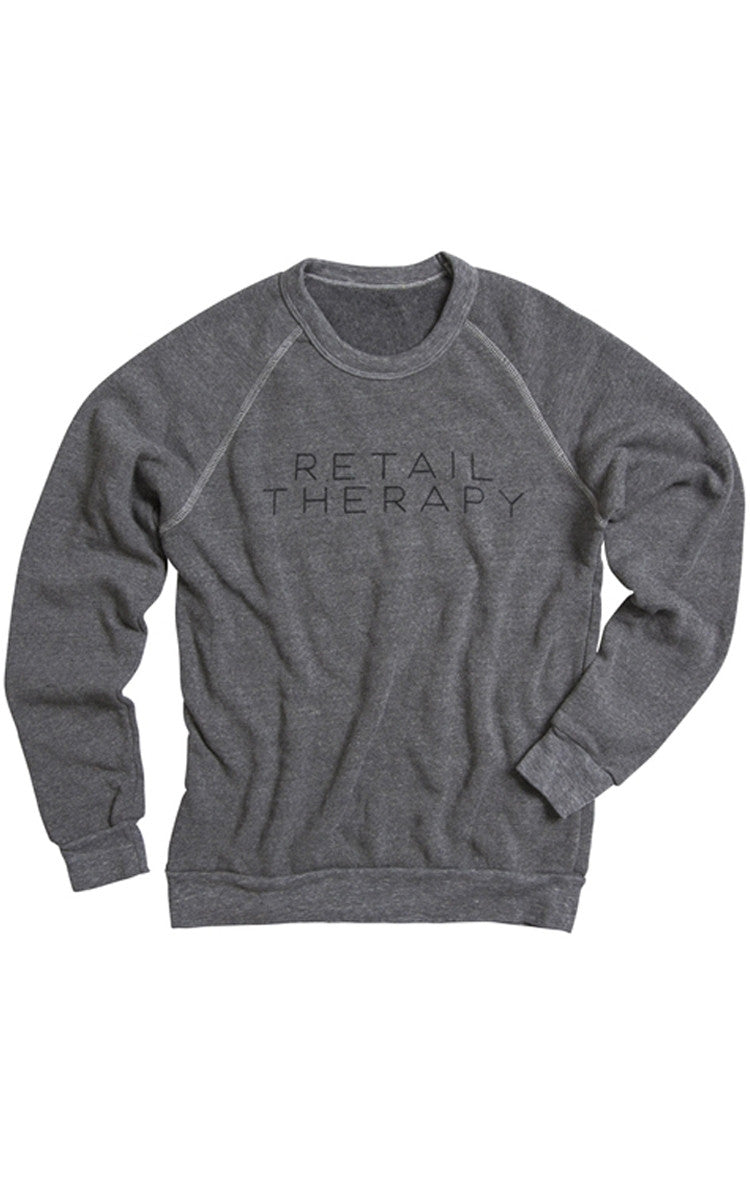 Retail Therapy Grey Sweatshirt