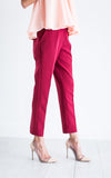 Wine Cropped Trouser