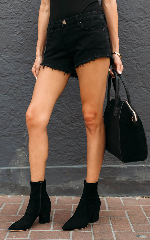 Black Cut-Off Shorts