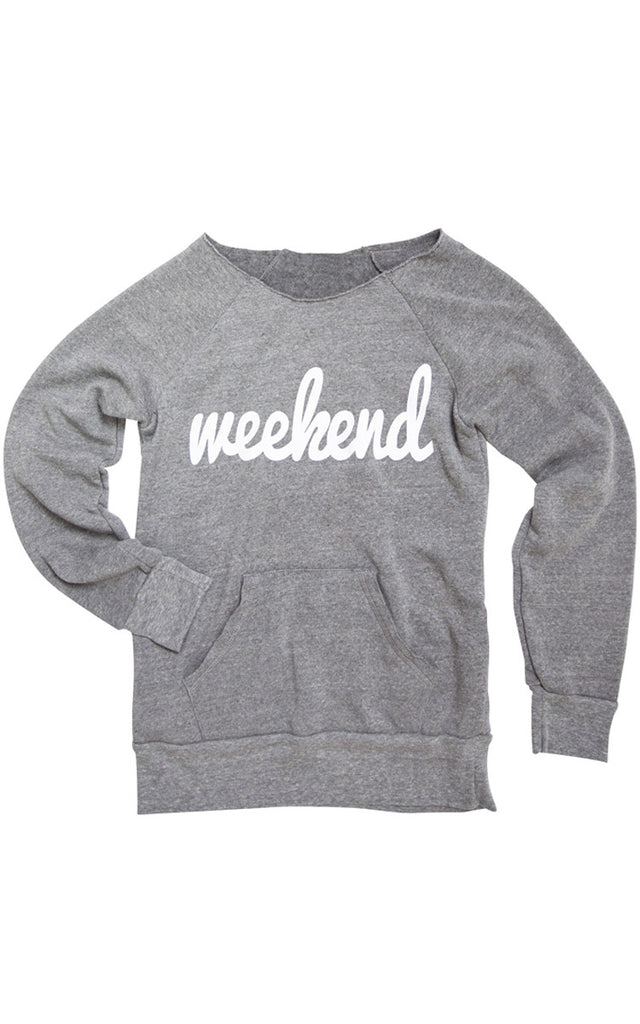 Weekend- Eco Grey Sweatshirt