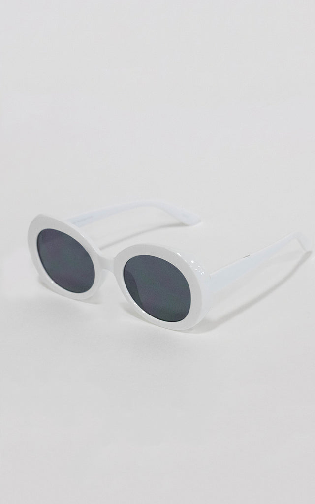 White Audrey Sunglasses