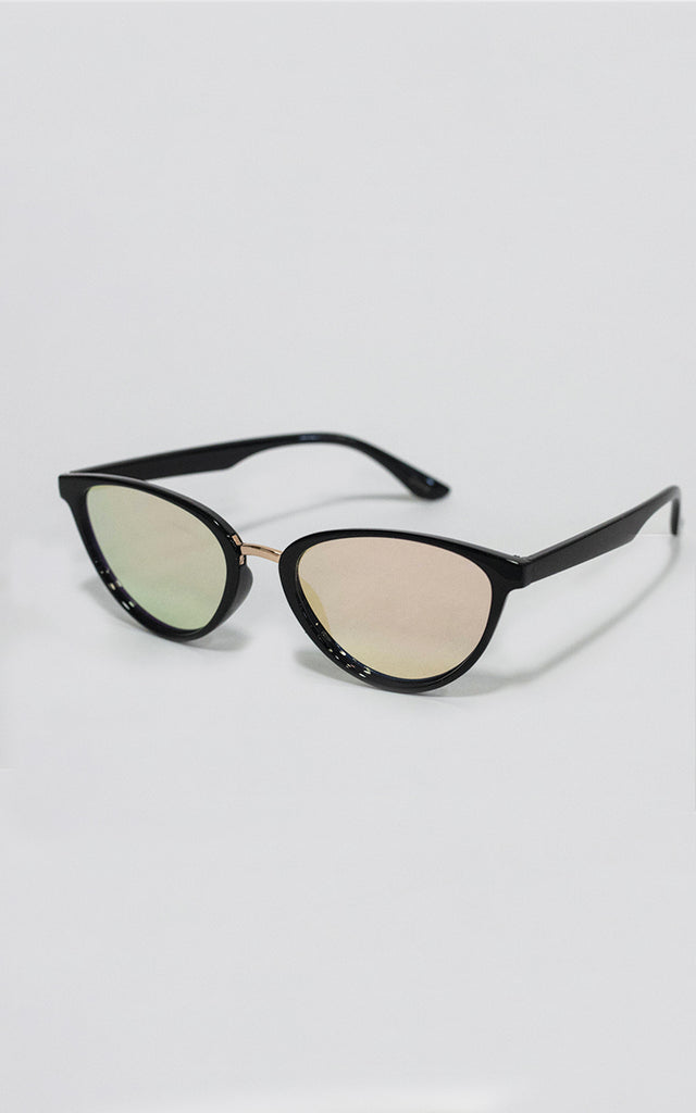 Black Rose Gold Lense Minx Sunglasses