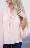 Blush Tie Flowy Top