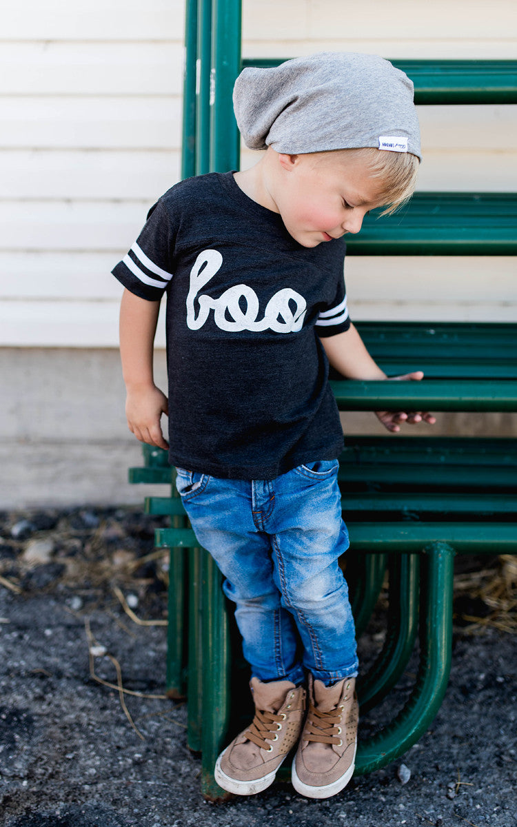 Boo Kids Tee -  Charcoal Grey