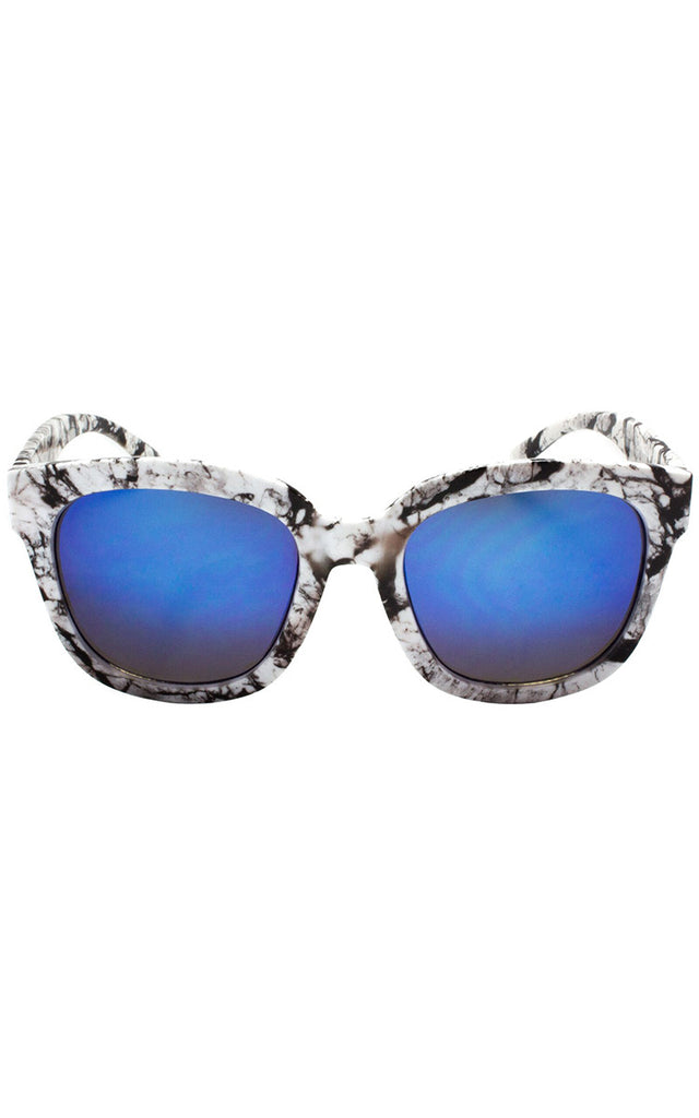 Cali Splatter Sunglasses - Black & Blue
