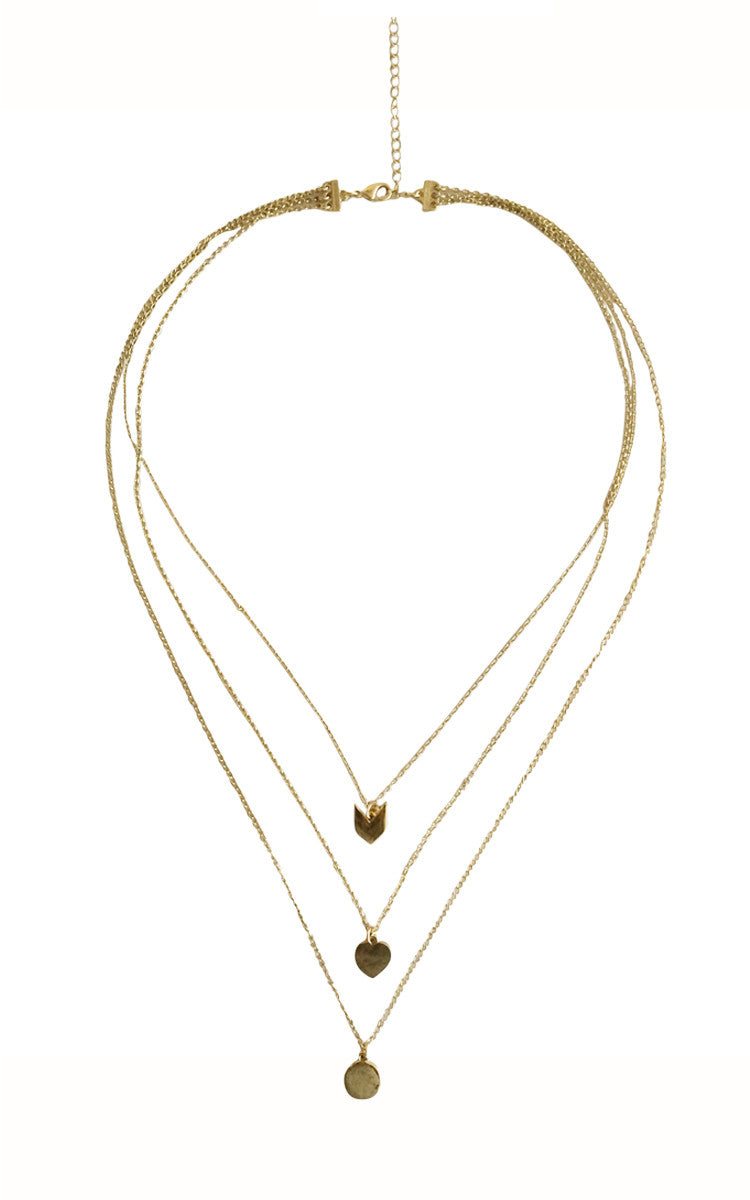 Chevron Dainty Necklace - Gold