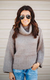 Chunky Turtleneck Dolman Sweater