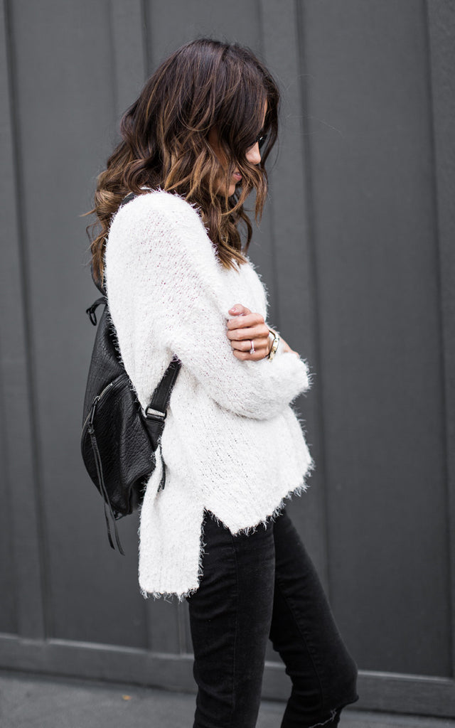 White Chunky Sweater