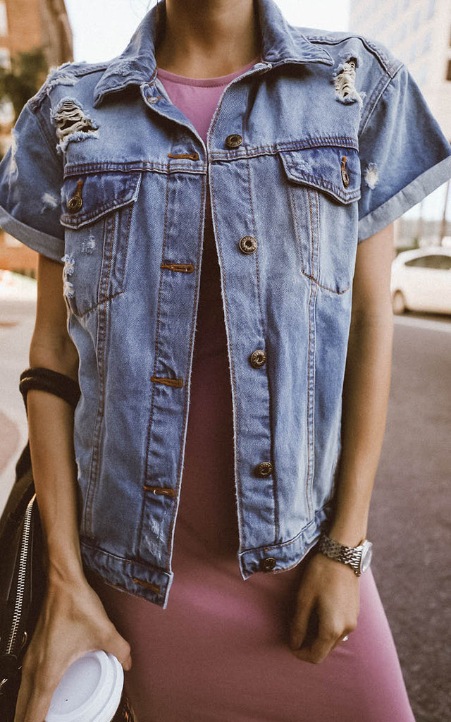 Short Sleeve Denim Jacket