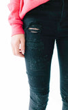 Black Distressed Denim - Girls