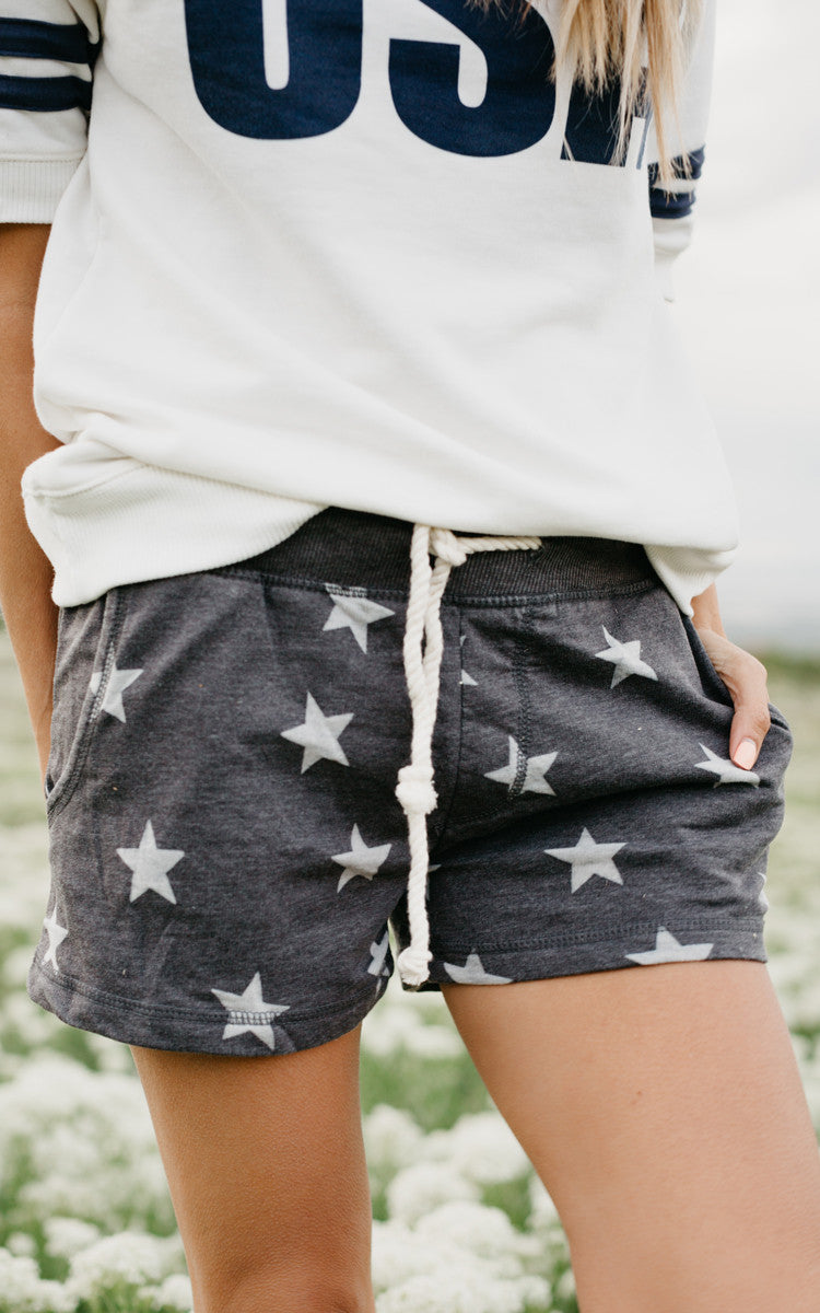 Star Drawstring Shorts