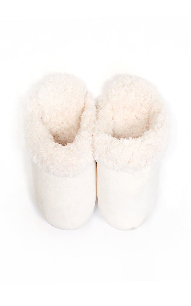 Ivory Slide Slippers